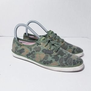 Keds Camo Sneakers Womens Size 7 Green Camouflage